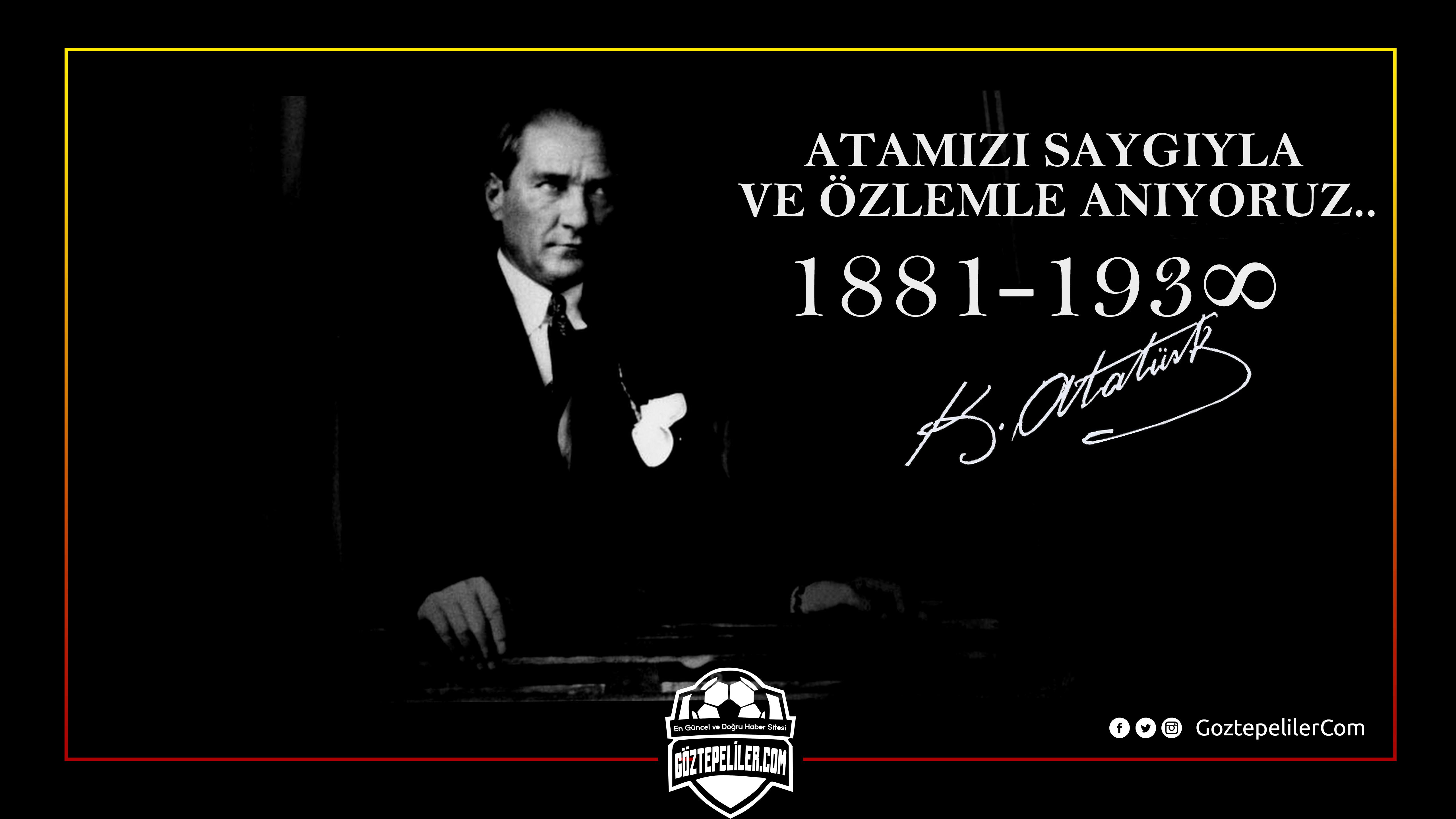 Ulu Önder Atatürk'ün vefatının 79. yılı...Saygıyla anıyoruz