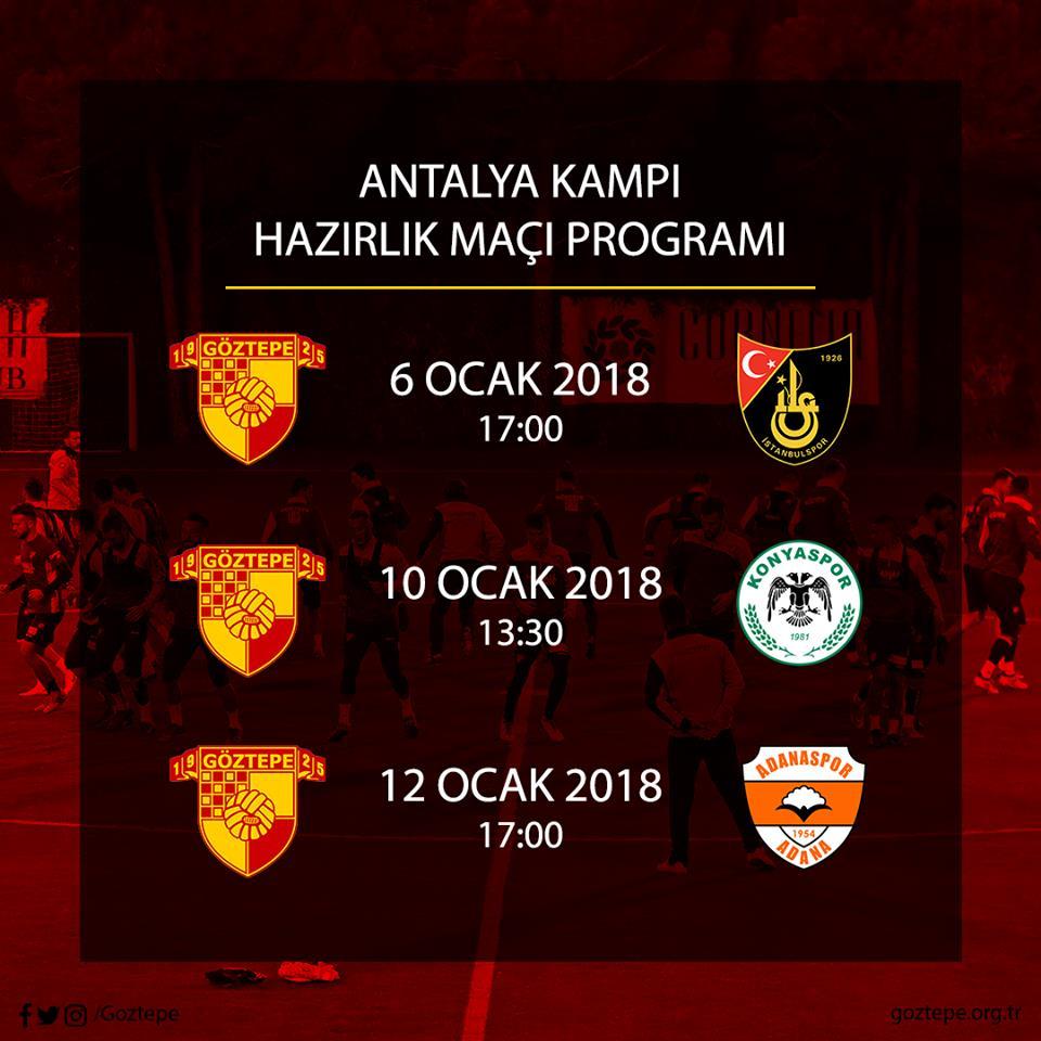 Antalya Kampı Hazırlık Maçı Programı
