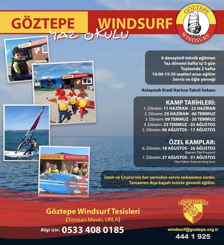 Göztepe Windsurf Yaz Okulu'nda 1. Dönem 11 Haziran'da başlıyor!