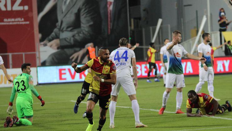 Göztepe, Rize'yi 2 golle geçti...