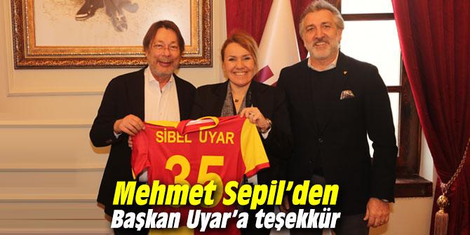 Göztepe Kulübü Başkanı Sepil'den Başkan Uyar'a teşekkür
