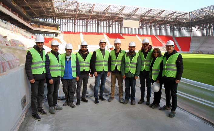 TSYD İzmir Şubesi, Göztepe'nin yeni stadını gezdi.